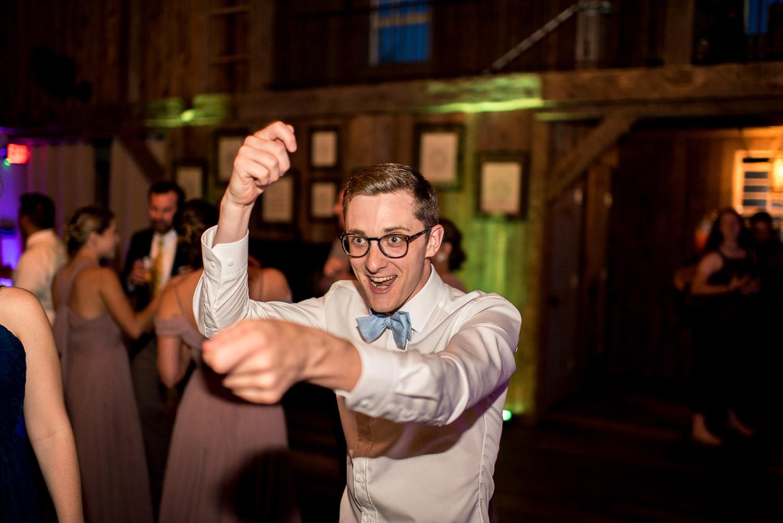 dancing at boho wedding reception