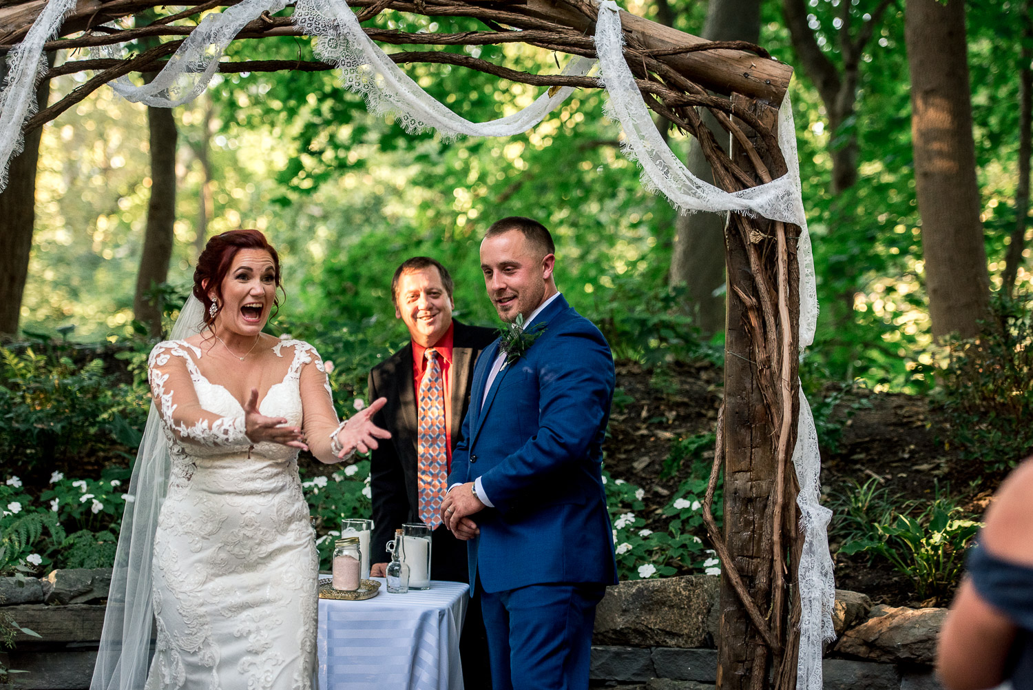 forest ceremony site at stone mill inn