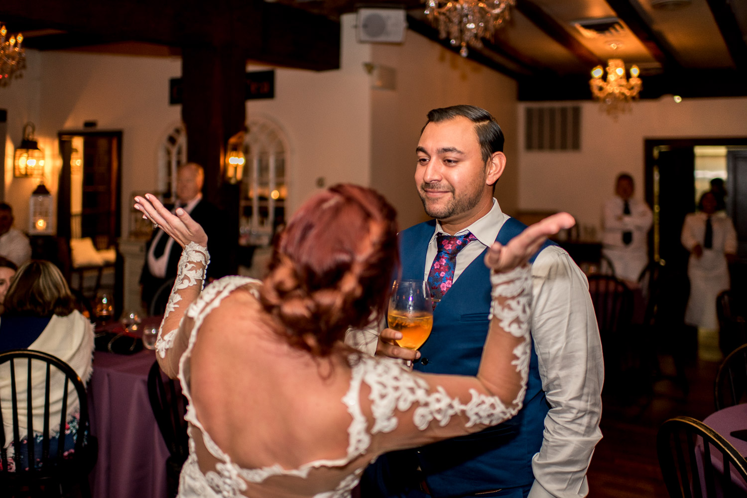 wild dancing at wedding reception
