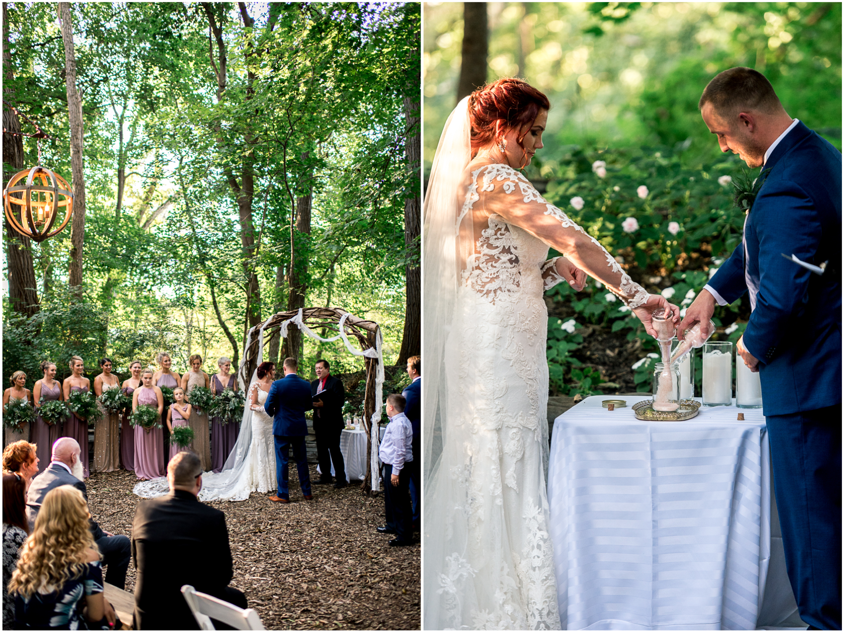 wedding ceremony in the woods