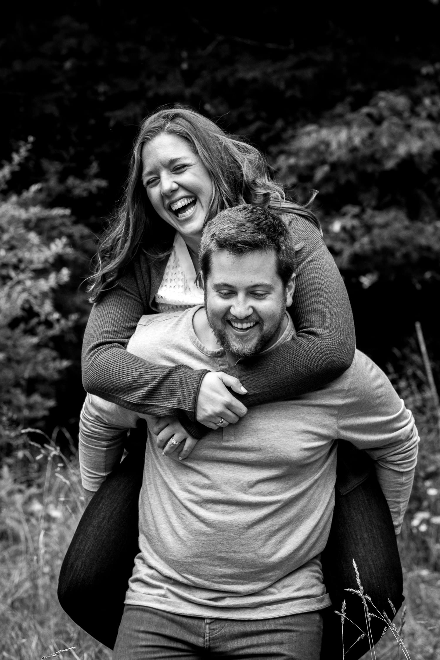 fun engagement session at Deep Creek Lake, Maryland