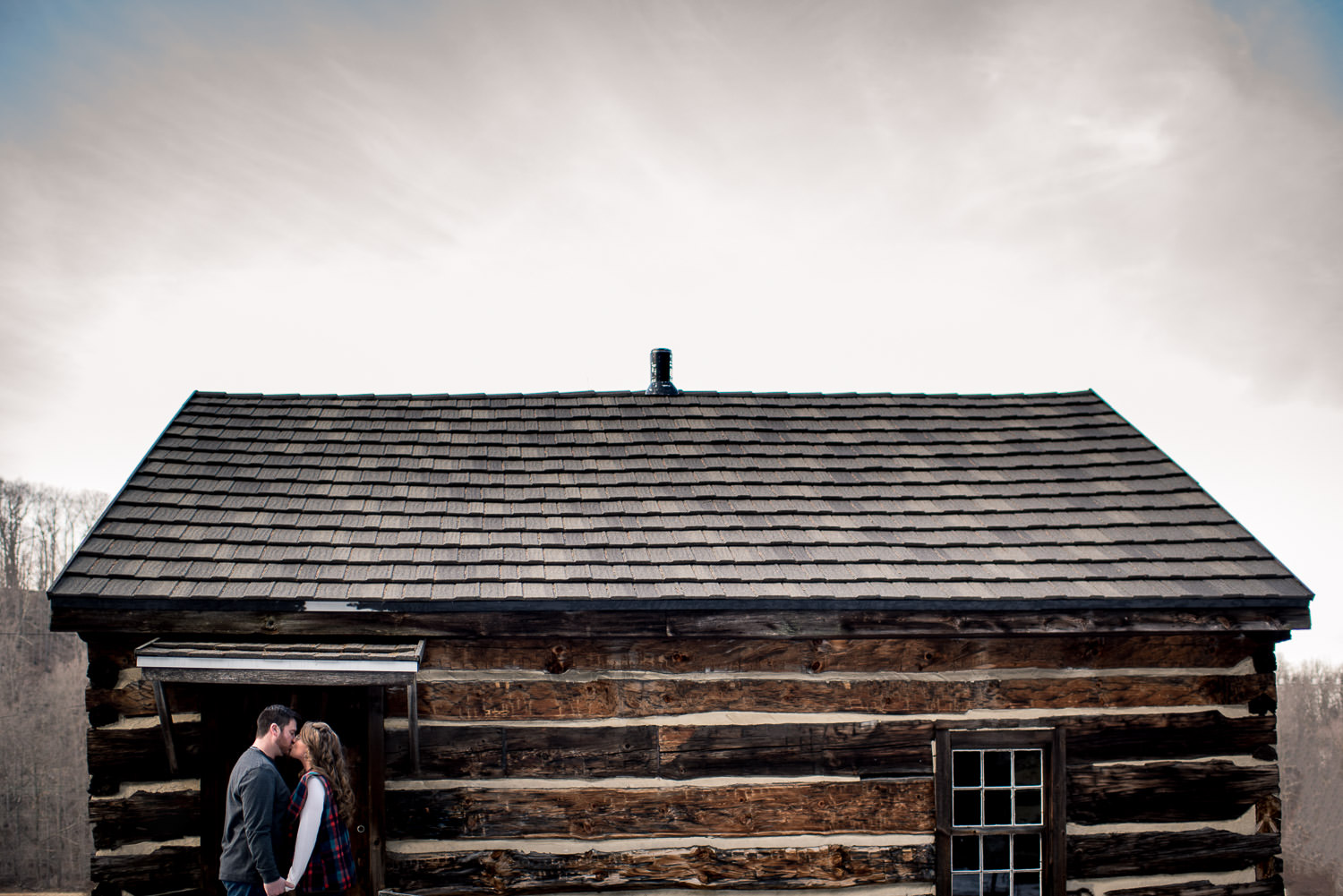 fun engagement session near Deep Creek Lake, Maryland