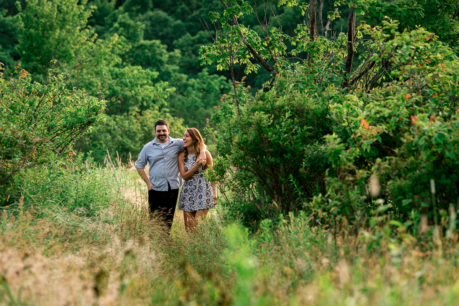 happy engagement session in Maryland