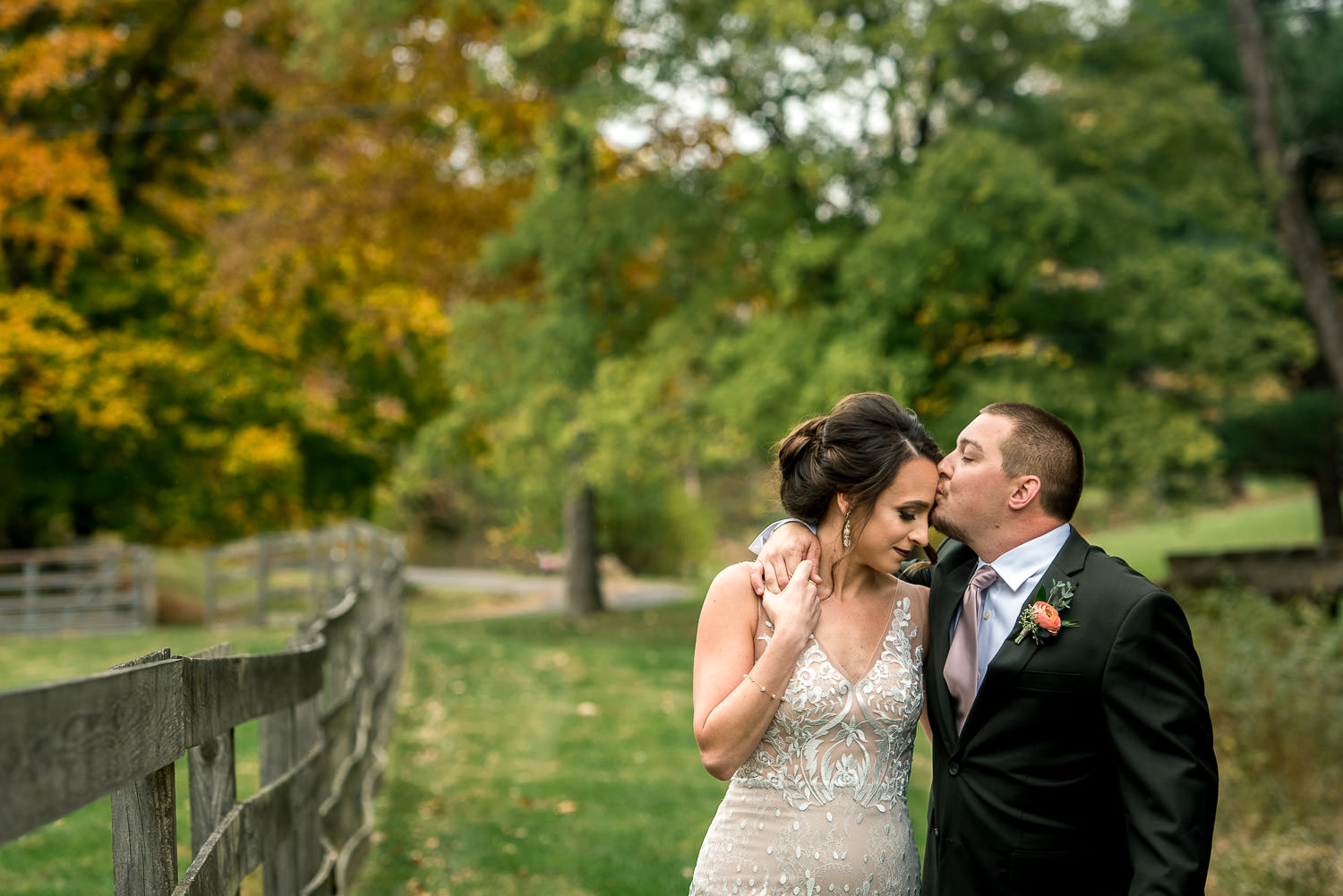 portrait of bride and groom at StoneBridge in Maryland