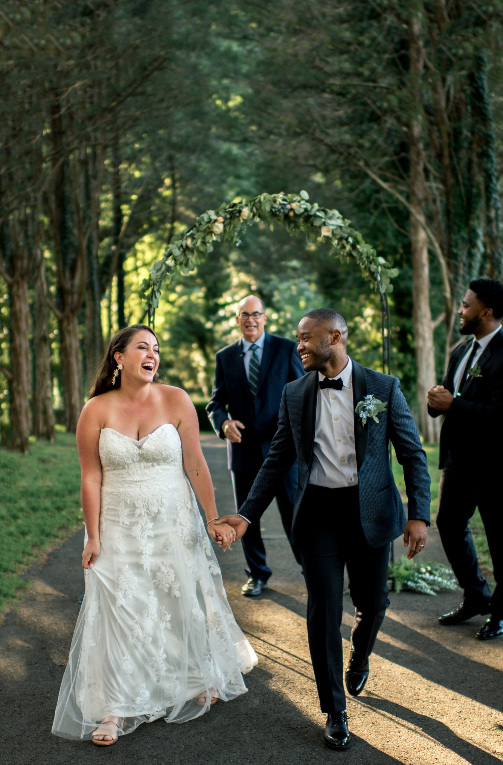 joyful candid wedding moment in virginia