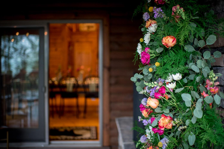farmhouse fete florals for backyard porch wedding