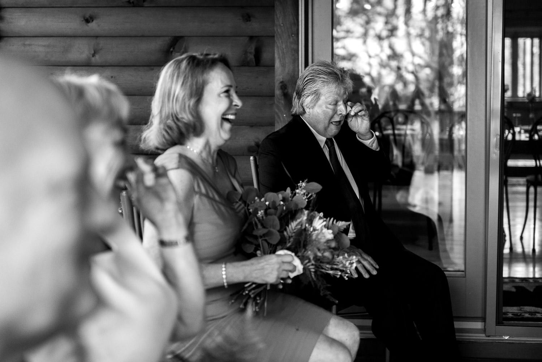 ceremony of deep creek lake elopement