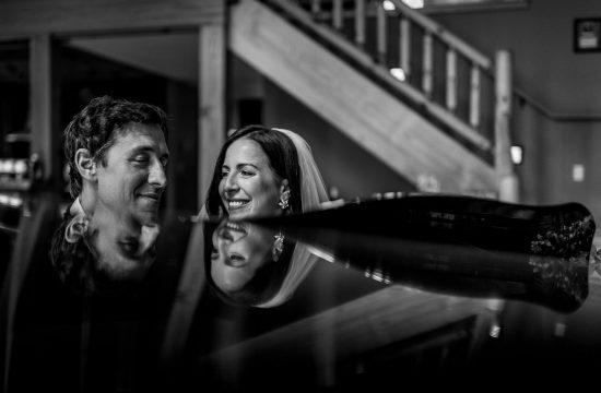 wedding portrait at piano
