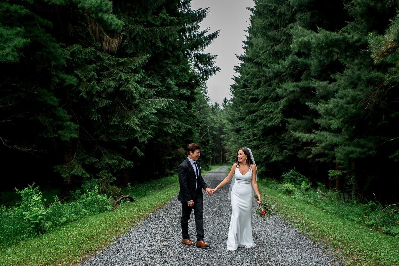 wedding portrait in woods in Maryland