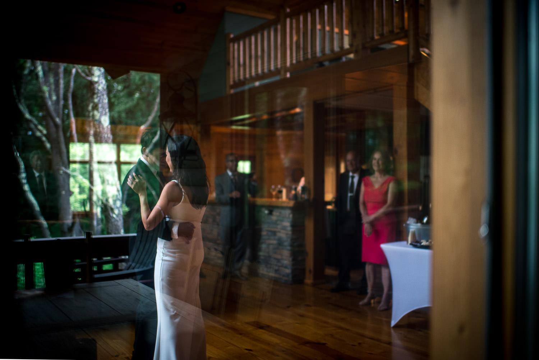 first dance for backyard elopement at Deep Creek LAke