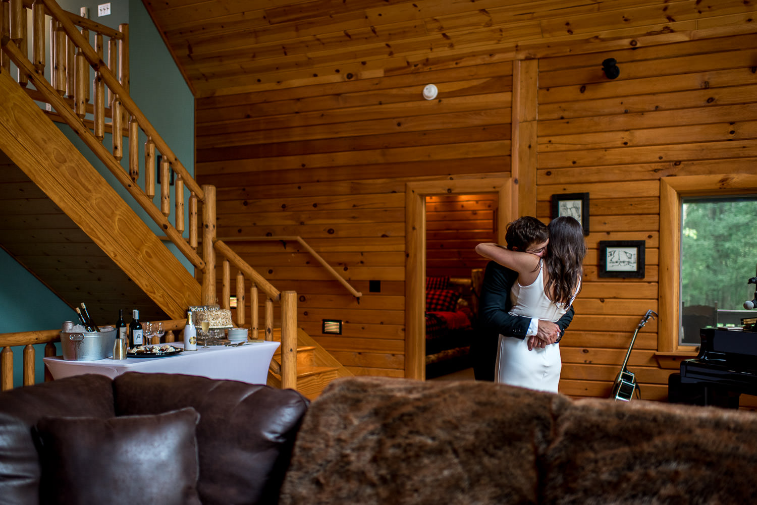 first dance for backyard elopement at Deep Creek LAke Maryland