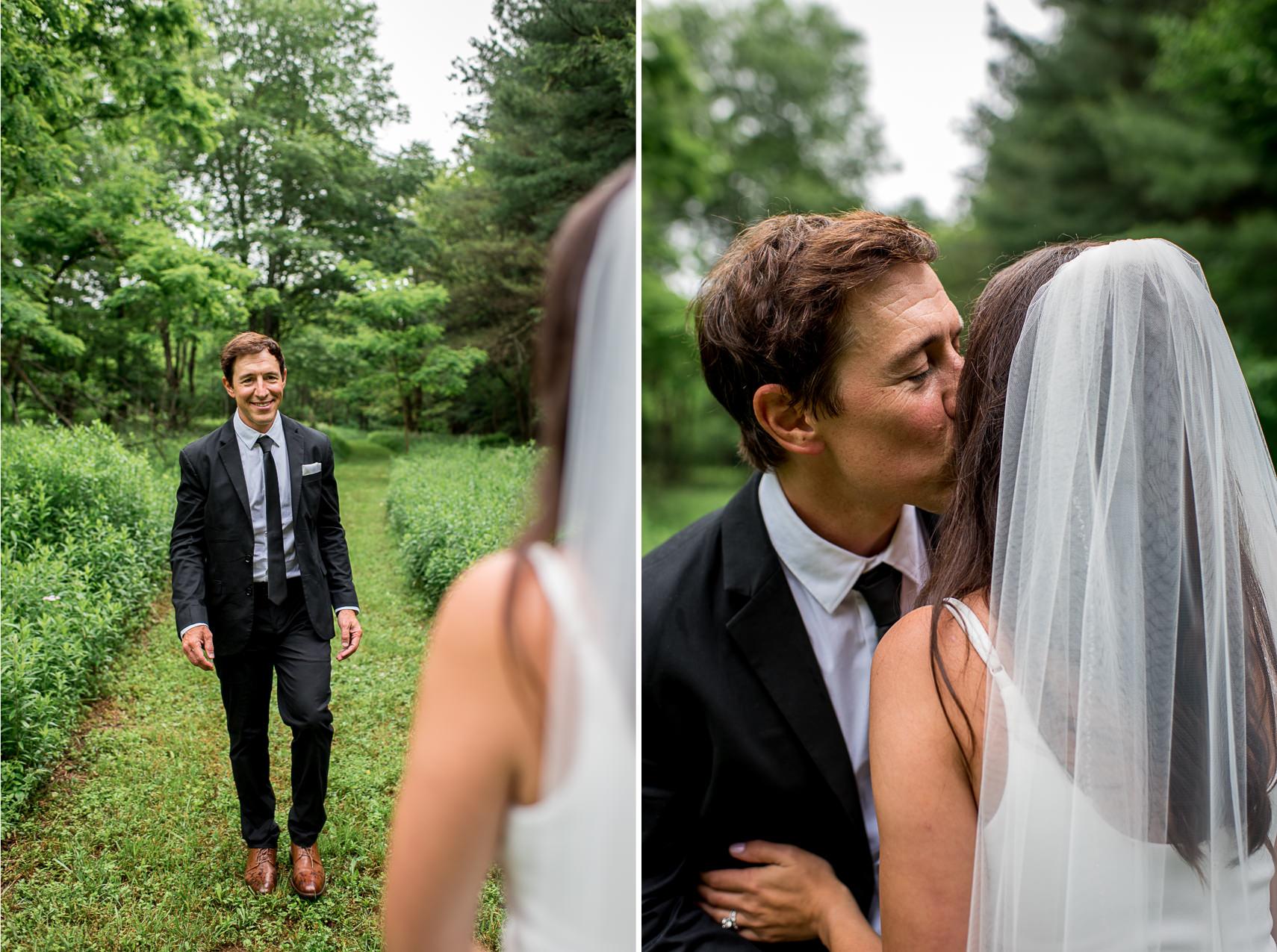 backyard wedding elopement in western Maryland