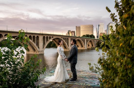 sunrise elopement overlooking the Potomac River
